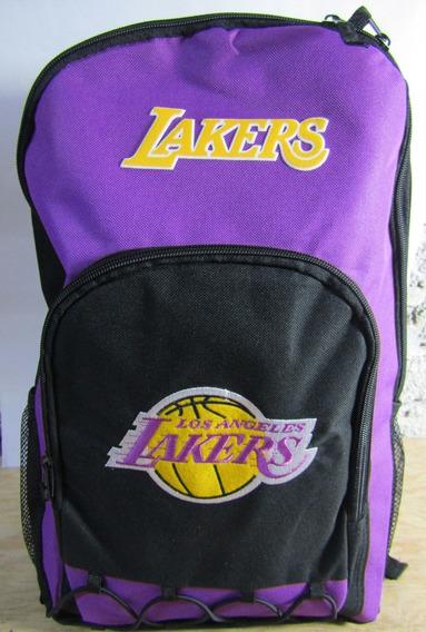 Mochila Nba Lakers Purple Black Oficial Escolar (astroboy)