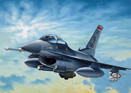 Imagem 1 de 1 de Kit Para Montar - Italeri - F-16 C/d Night Falcon - 1/72