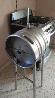 Asador Acero Inoxidable De Barril De Cerveza