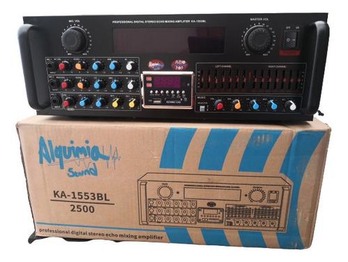 Amplificador De Sonido Alquimia Ka-1553 Bl 2000watts