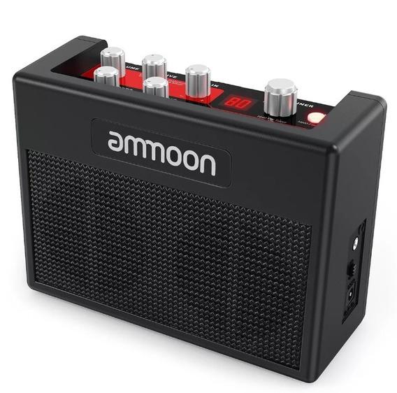 Ammoon Portátil Guitarra Amplificador 5 Watt, 80 Pre-sets Bateria, 03 Distroção: Reverb, Tremolo E Chords. Frete Grátis