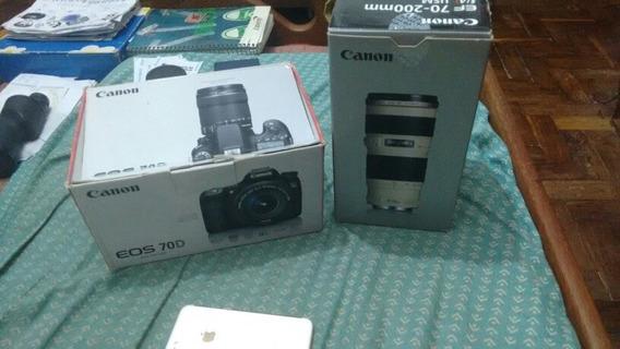 Canon 70d Tudo Novo E Completo