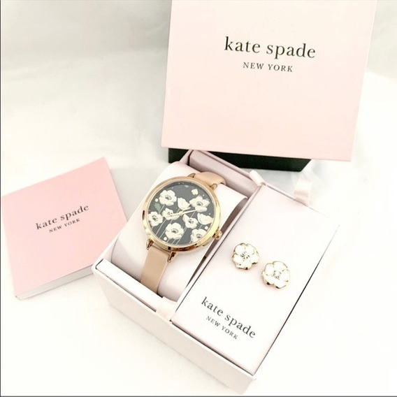 Reloj Kate Spade Set Con Aretes (no Michael Kors, No Coach)