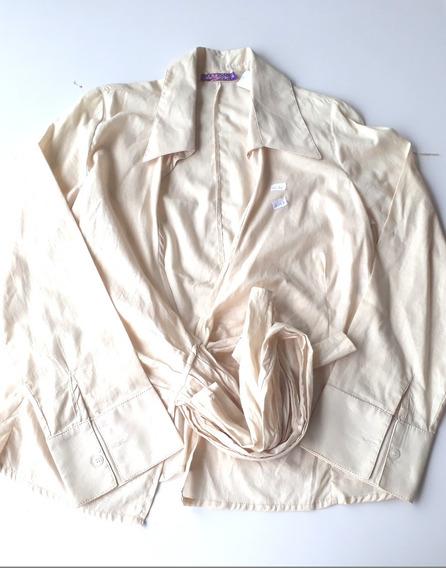 Camisa Social Feminina Detalhe De Amarrar - Ventos Modernos