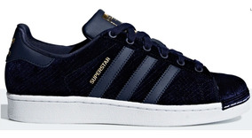 Tênis adidas Superstar Velvet Blue