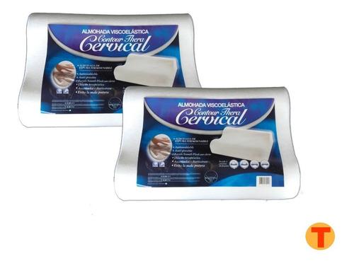 Combo 2 Almohadas Contour Cervical Memoria Inteligente Ctas