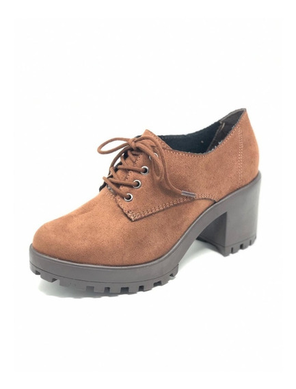 Sapato Feminino Ramarim Oxford Tratorado Salto 1956103