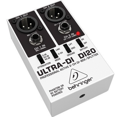 Direct Box Di20 Ativo 2 Canais Behringer Original