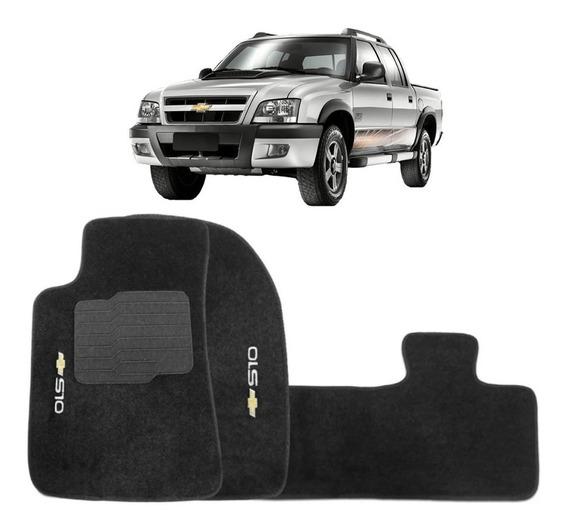 Jogo Tapetes Ecotap Soft Carpete Preto Chevrolet S10 96/11