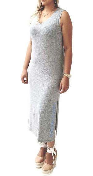 Vestido Camisola Calvin Klein Underwear Com Fenda Int09