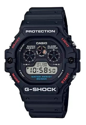 Relógio Casio Digital G Shock Masculino Dw5900-1 Original