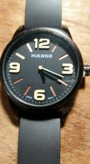Reloj Hombre Mango 1512 - Malla Caucho - Metal -con Estuche