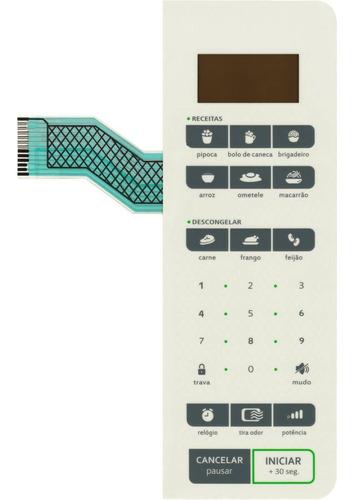Imagem 1 de 3 de Teclado De Membrana Microondas Consul Cms45ab Cms 45ab Creme