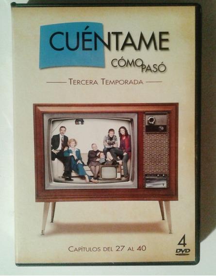 Cuentame Como Paso, 3a Temp, 4 Dvd, Serie Tv España Original