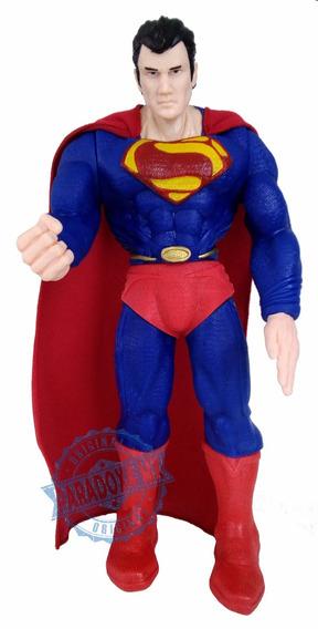Figura Articulada Superman 40 Cm Con Capa - Nuevo!