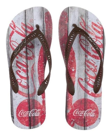 Chinelo Coca Cola Retro Wood Cc2505 Mas 361414   Calcebel