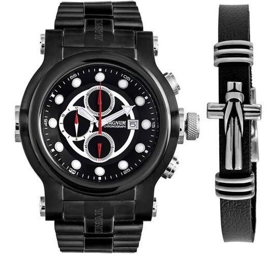 Relógio Masculino Magnum Analógico Ma32292c Com Pulseira Cronógrafo Baixou Preço Nf 2 Anos De Garantia