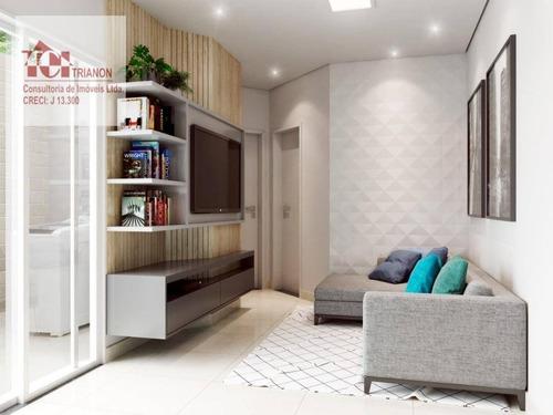 Apartamento Com 46 M² - 2 Dormitórios, 1 Vaga - À Venda Por R$ 240.000 - Vila Junqueira - Santo André/sp - Ap3181