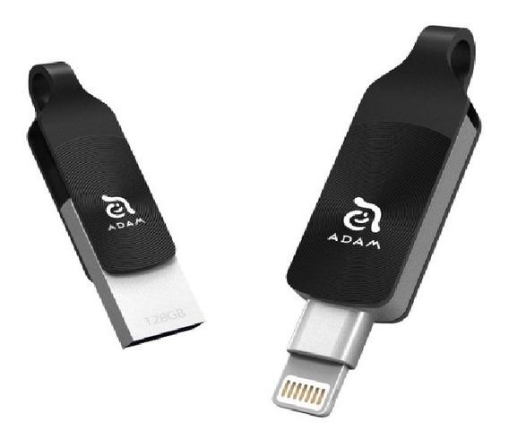 Pen Drive Elements Adam Iklips Duo 64gb Preto Para iPhone
