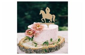 Letrero Para Pastel Novios En Caballo Topper Cake Art953