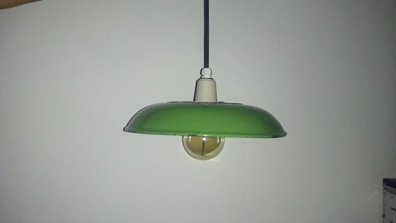 Luminária Pendente,vintage Industrial, Esmaltada Original