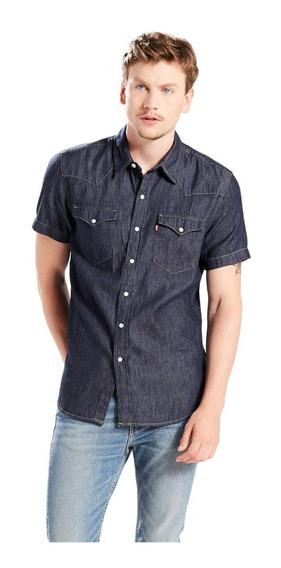 Camisa Levis Masculina Jeans Short Sleeve Classic Western
