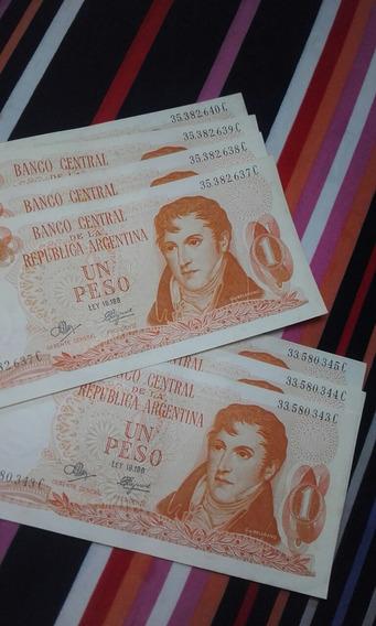 Antiguos Billetes Consecutivos X 7unidades