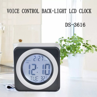 Reloj Digital Despertador Ds-3616 6 Botones Luz Led, New !!