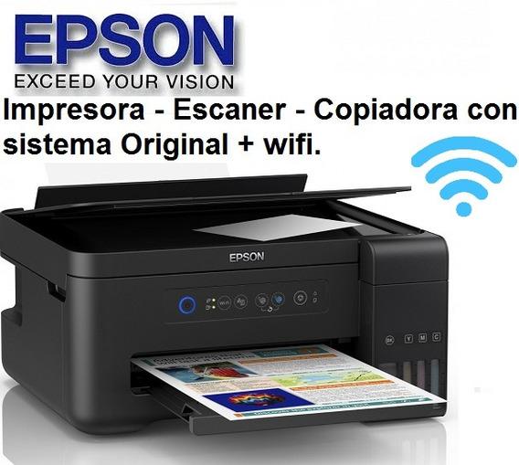 Impresora Epson L380 Con Wifi Equipos Multifuncion