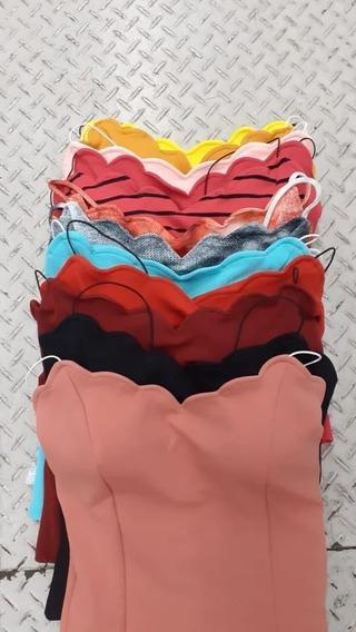 Kit 10 Blusas Nuvem Crepe C Bojo Atacado Promoção Moda Verão
