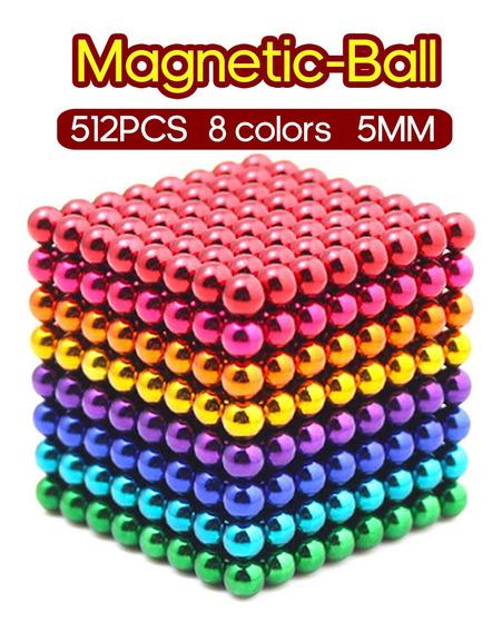 Juguete De Construcción Con Pelotas Magnéticas De 5mm 512 P.