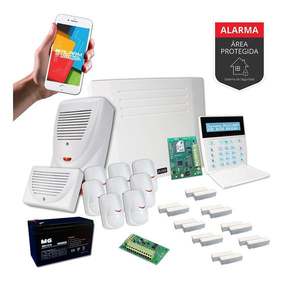 Alarma Para Casa Quinta Sensor Magnético Wifi Kit - Cableado