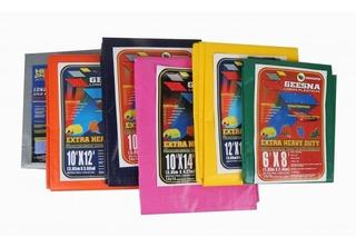 Lona Súper Reforzada 9x18 Impermeable Varios Colores