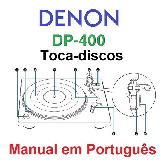 Manual Em Português Do Toca-discos Denon Dp-400