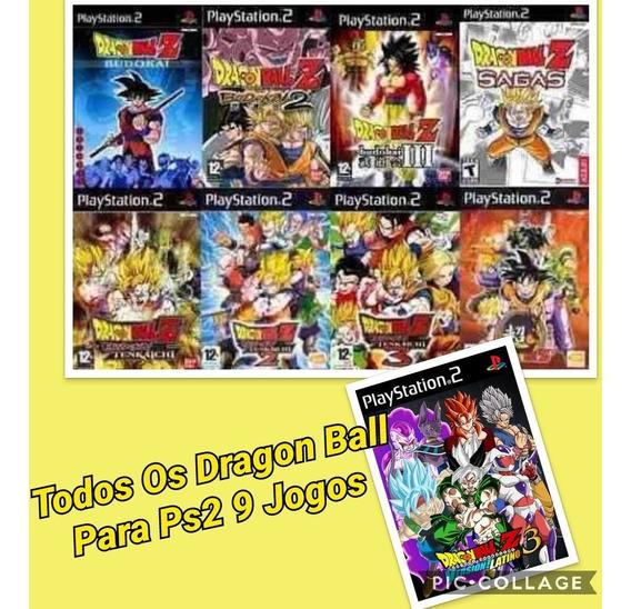 Dragon Ball Para Ps2 Kit Com Todos Os Jogos Mais Um Brinde