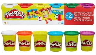 Masa Play Doh 6 Paquetes Colores Primarios B6755 Plastilina