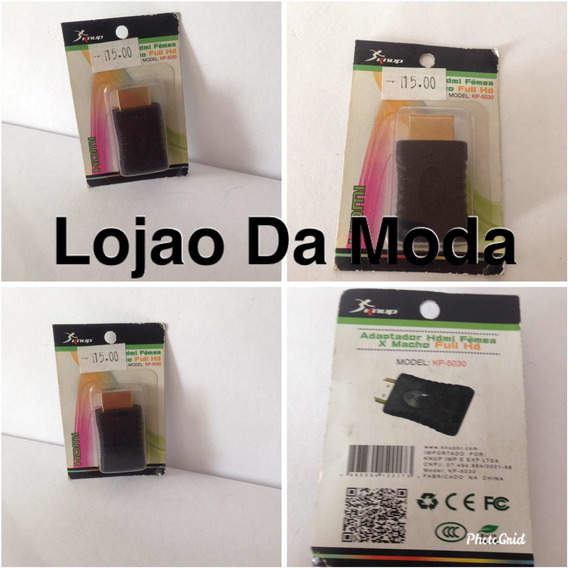 Adaptador Hdmi Fêmea X Macho Full Hd