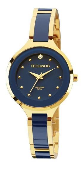 Relógio Technos Feminino Safira Dourado 2035lyv/4a