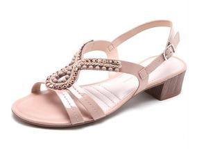 Sandália Dakota Preta Nude Salto Baixo Verniz Confortável