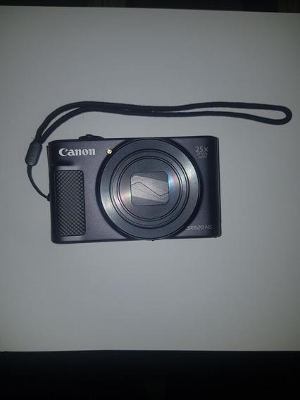 Câmera Canon Powershot Sx620 Hs 20.2mp 25x Preta Semi Nova