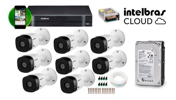 Kit 8 Câmeras Dvr Intelbras
