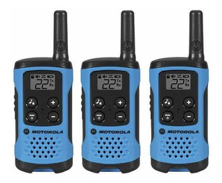 Kit De 3 Radios Motorola T100tp De 25 Km 22 Canales 3 Clip