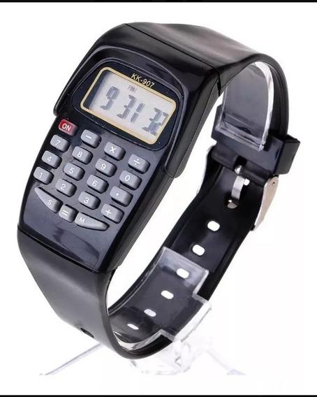 Relógio Infantil Calculadora Várias Cores Pulseira Oferta