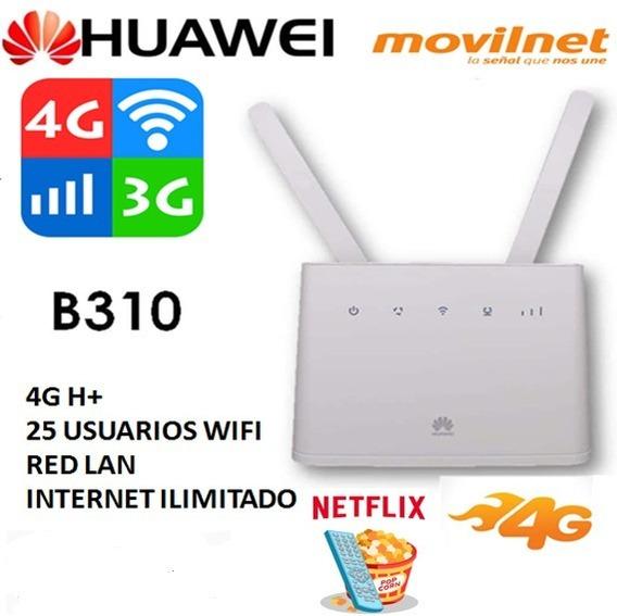 Modem Router Wifi Huawei B310 4g H+ Internet Ilimitado