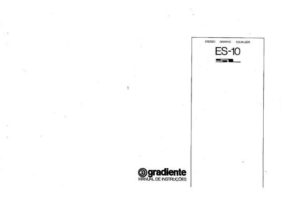 Manual Equalizador Gradiente Es10 - Cópia Digital 10 Pags