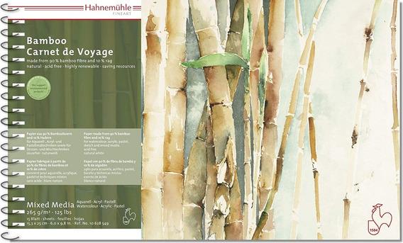 2 X Caderno De Viagem Hahnemühle Bamboo 15,3 X 25cm 265g/m²