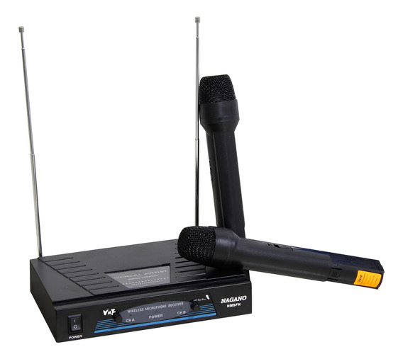 Microfone Sem Fio Duplo 50m - 110v - Nmsfn