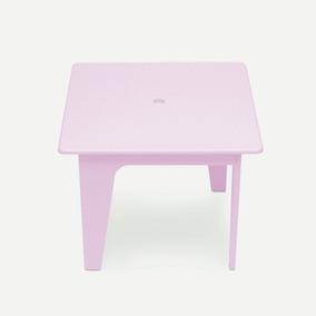 Mesinha Infantil Rosa Laca Arco Design Assinado Caixotin