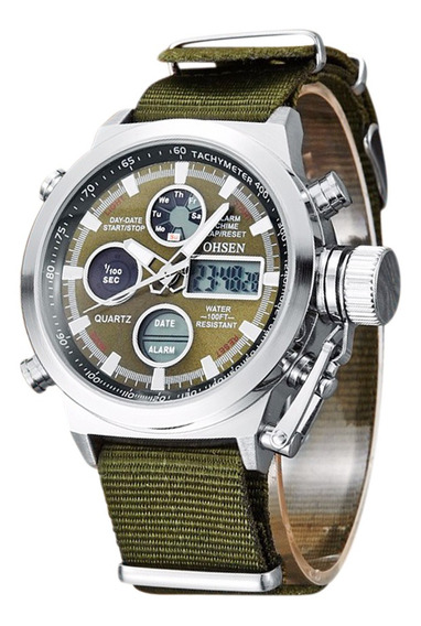 Ohsen Homens Moda Sports Relógios Digital À Prova D'água