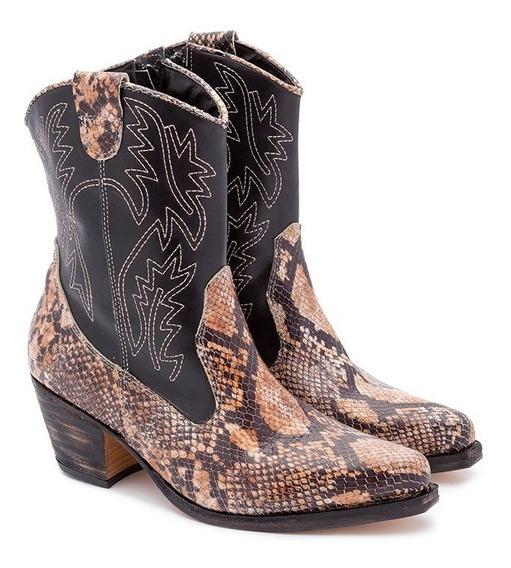 Botinetas Texana Mujer Botas 100%cuero Art 570 Tallon